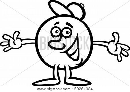 Mister Ball Cartoon Character Illustration