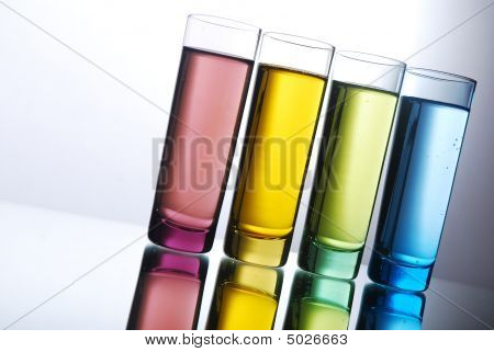 Multi-colored Shot Glasses