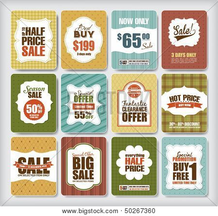 Set of sale/discount design elements