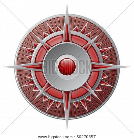 Red Compass, Wind-rose vector