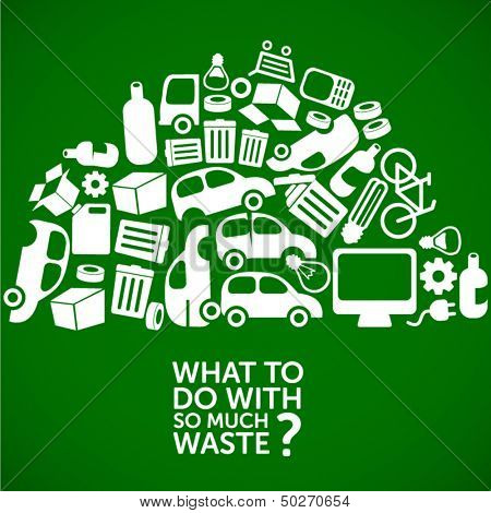 waste, dump, junkyard - ecology background / waste treatment