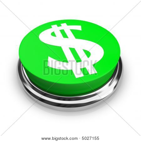 Us Dollar Symbol - Button