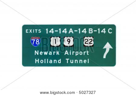 Nj Turnpike Sign