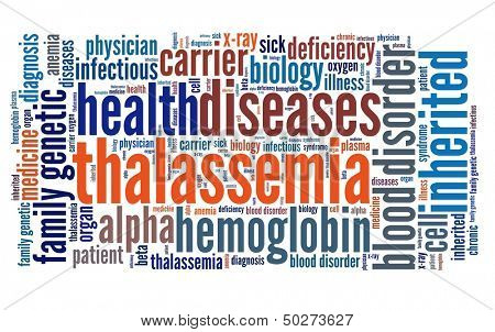 Thalassemia in word collage