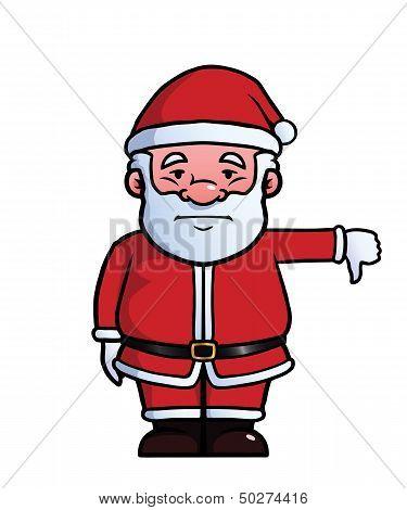 Santa Claus giving thumbs down