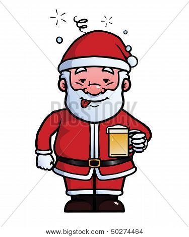 Santa Claus being drunk