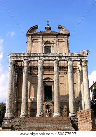 Temple Of Antoninus And Faustina In Rome