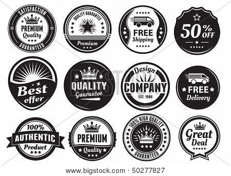 Twelve Scalable Vintage Badges