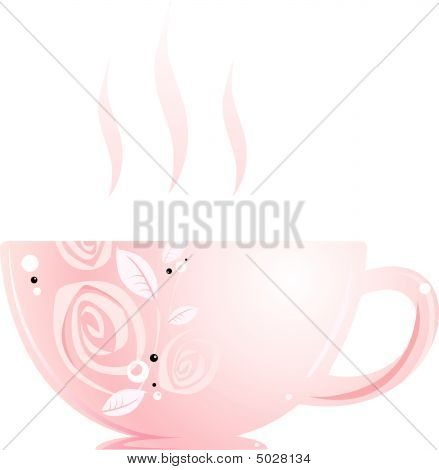 Cup With Rose Tea