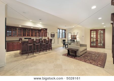 Basement And Fireplace