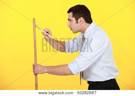 Businessman painting