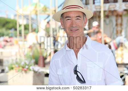 Older male tourist