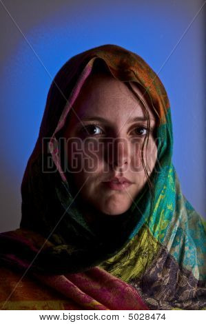 Girl In Shawl