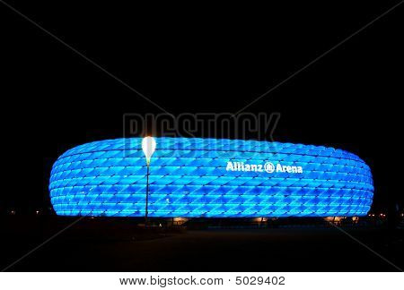 The Colorful Illumination Of Allianz Arena In Munich