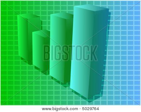 Financial Barchart Illustration