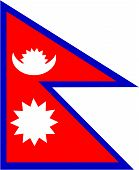 image of nepali  - Vector illustration of the flag of Nepal - JPG