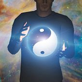 image of yin  - Yin Yang Star man some elements provided by NASA - JPG
