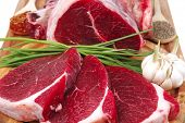 stock photo of bloody  - fresh meat  - JPG