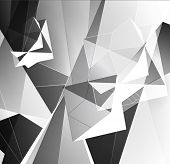 picture of triangular pyramids  - Greyscale Triangular Abstract Background - JPG