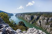 stock photo of serbia  - Danube in Djerdap National park - JPG