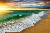 picture of silence  - A Tropical sunset over the sea  - JPG