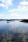 stock photo of marblehead  - The first warm day in Marblehead Ma. Taken from the shore line.