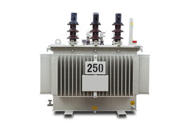 pic of hermetic  - Three phase 250 kVA corrugated fin hermetically sealed type oil immersed transformer - JPG