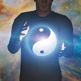 picture of taoism  - Yin Yang Star man some elements provided by NASA - JPG