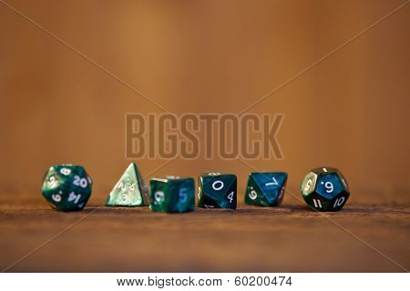 Pen and paper role playing game dices