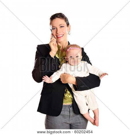 Business woman with her infant child