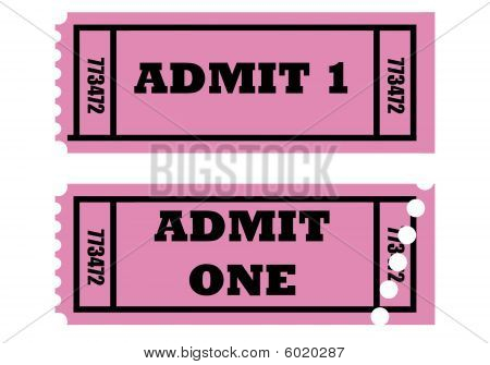 Admit One Tickets