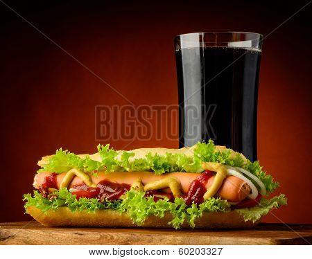 Hotdog And Cola