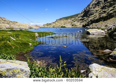 Lake At Gredos Mountains In Avila Spain