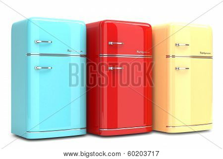 Colored retro Refrigerators