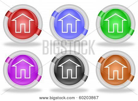 Home Icon Web Buttons