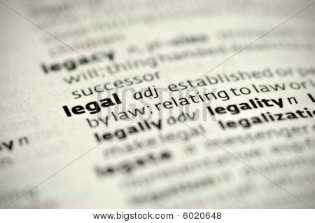 definition of the word Legal