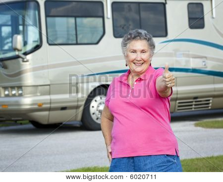 Rv Senior Woman - Thumbs Up