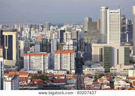 Singapore Cityscape With Chinatown
