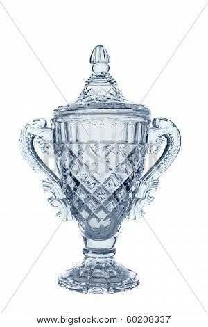 champion winner trophy isolated white background