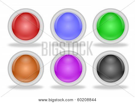 Shiny Blank Web Buttons With Beveled Frames