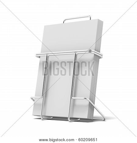 Metal box holder for leaflets