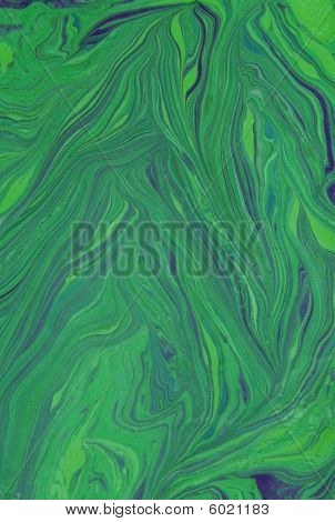 Green Marbled Background
