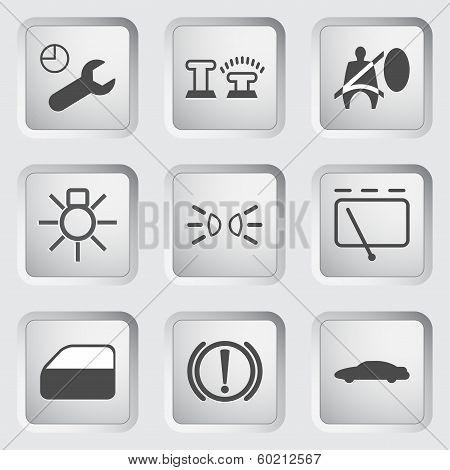Car Dashboard icons 3