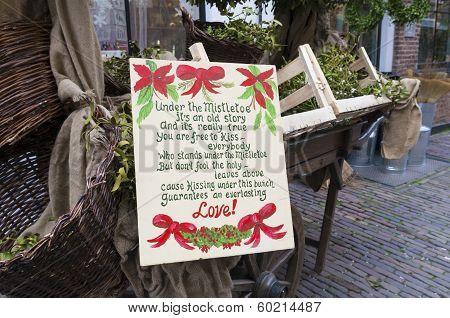 Under The Mistletoe Poem