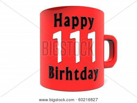 Happy Birthday On A Cup