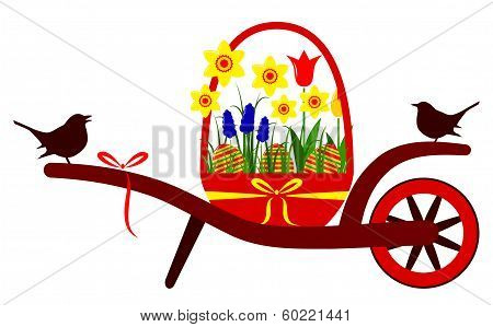 Easter Wheel Barrow