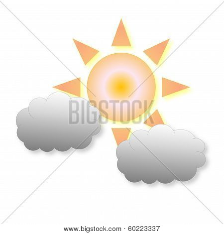 Little cloudy weather icon