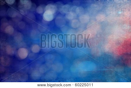 Abstract Textured Background: Blue, Red, And White Patterns. For Art Texture, Grunge Design, And Vin
