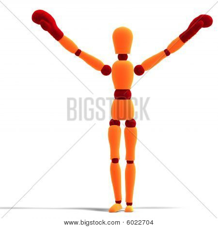 Orange / Red  Manikin Is The Winner