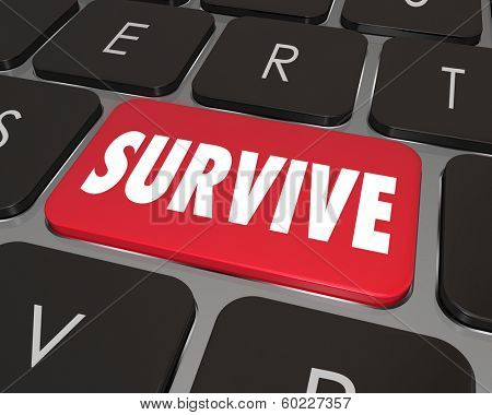 Survive Word Computer Keyboard Key How to Win Endure Challenge
